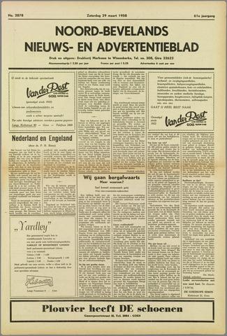 Noord-Bevelands Nieuws- en advertentieblad 1958-03-29