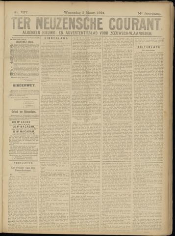 Ter Neuzensche Courant. Algemeen Nieuws- en Advertentieblad voor Zeeuwsch-Vlaanderen / Neuzensche Courant ... (idem) / (Algemeen) nieuws en advertentieblad voor Zeeuwsch-Vlaanderen 1924-03-05
