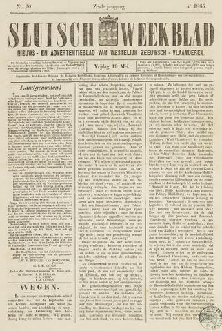 Sluisch Weekblad. Nieuws- en advertentieblad voor Westelijk Zeeuwsch-Vlaanderen 1865-05-19