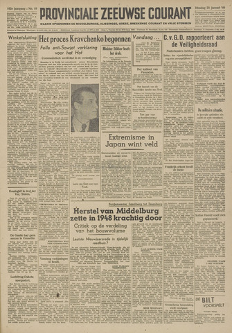 Provinciale Zeeuwse Courant 1949-01-25