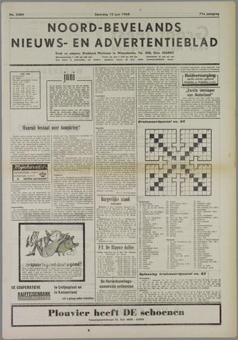 Noord-Bevelands Nieuws- en advertentieblad 1968-06-15