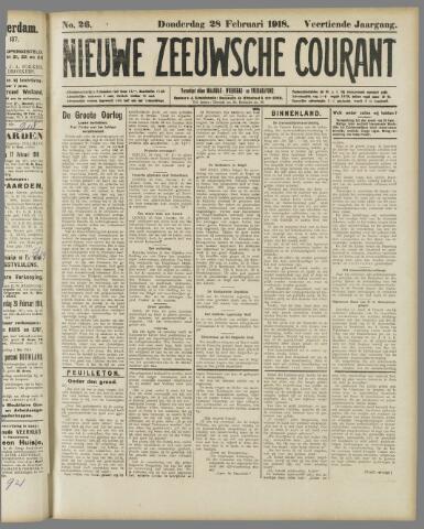 Nieuwe Zeeuwsche Courant 1918-02-28