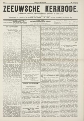 Zeeuwsche kerkbode, weekblad gewijd aan de belangen der gereformeerde kerken/ Zeeuwsch kerkblad 1935-03-01