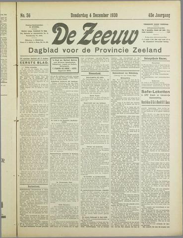 De Zeeuw. Christelijk-historisch nieuwsblad voor Zeeland 1930-12-04