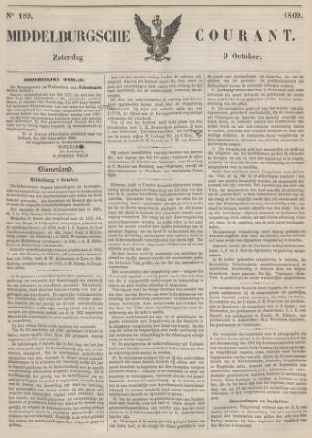 Middelburgsche Courant 1869-10-09