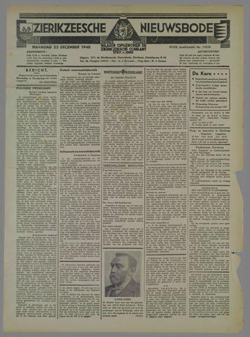Zierikzeesche Nieuwsbode 1940-12-23