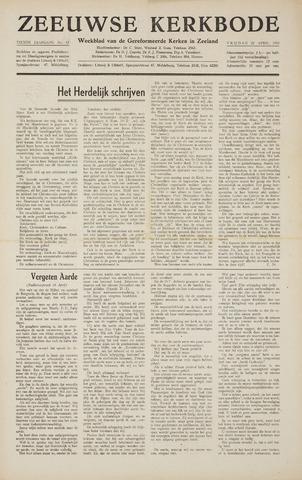 Zeeuwsche kerkbode, weekblad gewijd aan de belangen der gereformeerde kerken/ Zeeuwsch kerkblad 1955-04-22