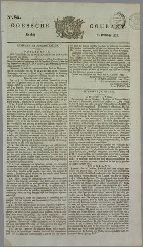 Goessche Courant 1833-10-25