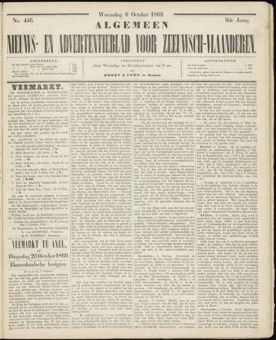 Ter Neuzensche Courant. Algemeen Nieuws- en Advertentieblad voor Zeeuwsch-Vlaanderen / Neuzensche Courant ... (idem) / (Algemeen) nieuws en advertentieblad voor Zeeuwsch-Vlaanderen 1869-10-06