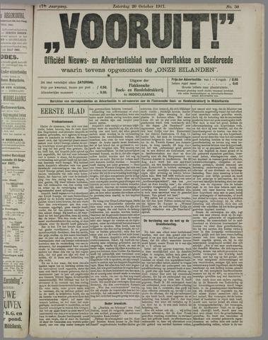 """""""Vooruit!""""Officieel Nieuws- en Advertentieblad voor Overflakkee en Goedereede 1917-10-20"""