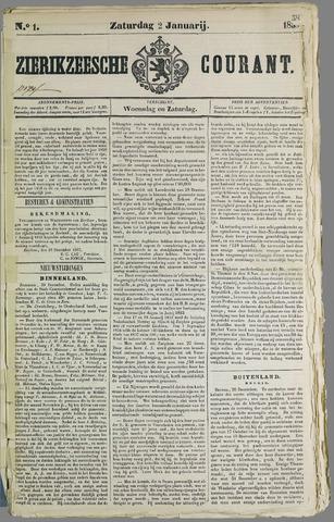 Zierikzeesche Courant 1858
