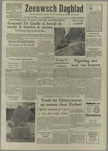 Zeeuwsch Dagblad 1958-05-16
