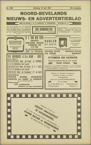 Noord-Bevelands Nieuws- en advertentieblad 1937-06-19