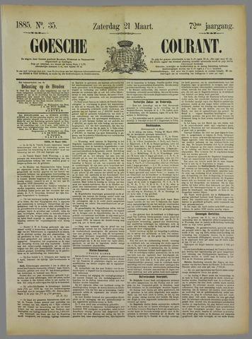 Goessche Courant 1885-03-21