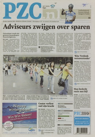Provinciale Zeeuwse Courant 2008-09-02