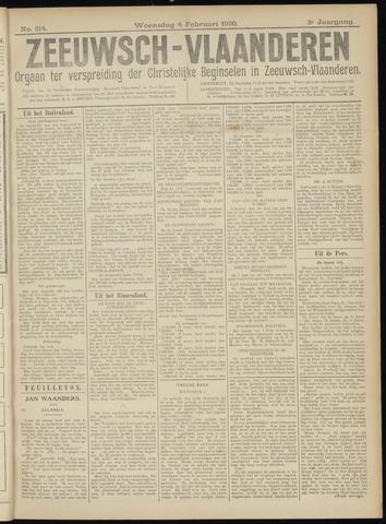 Luctor et Emergo. Antirevolutionair nieuws- en advertentieblad voor Zeeland / Zeeuwsch-Vlaanderen. Orgaan ter verspreiding van de christelijke beginselen in Zeeuwsch-Vlaanderen 1920-02-04