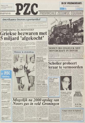 Provinciale Zeeuwse Courant 1985-04-01