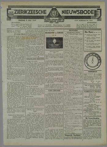 Zierikzeesche Nieuwsbode 1937-07-09