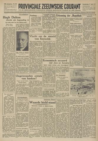 Provinciale Zeeuwse Courant 1947-04-17
