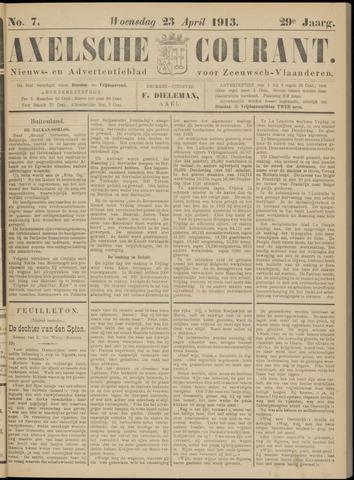 Axelsche Courant 1913-04-23