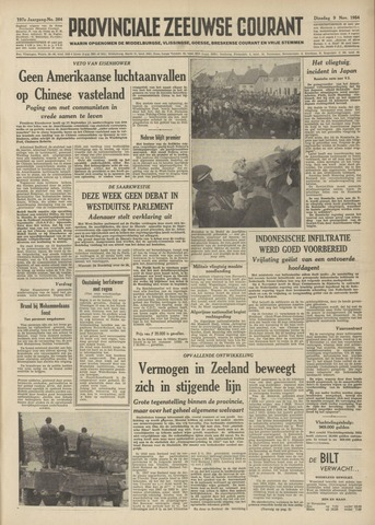 Provinciale Zeeuwse Courant 1954-11-09