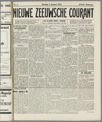 Nieuwe Zeeuwsche Courant 1912-01-09