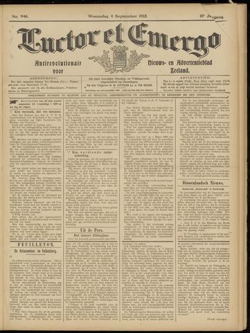 Luctor et Emergo. Antirevolutionair nieuws- en advertentieblad voor Zeeland / Zeeuwsch-Vlaanderen. Orgaan ter verspreiding van de christelijke beginselen in Zeeuwsch-Vlaanderen 1912-09-04