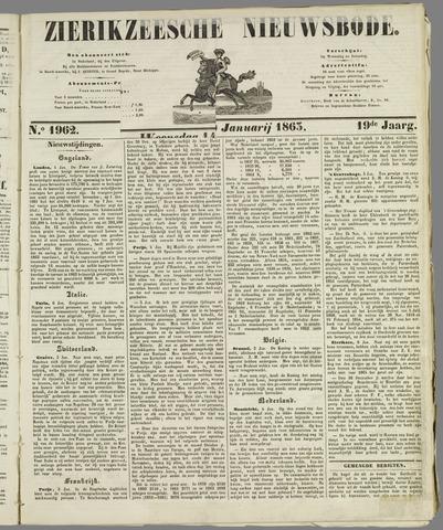 Zierikzeesche Nieuwsbode 1863-01-14
