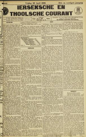 Ierseksche en Thoolsche Courant 1926-04-23