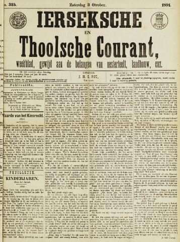 Ierseksche en Thoolsche Courant 1891-10-03