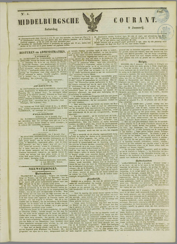Middelburgsche Courant 1847-01-09