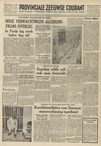 Provinciale Zeeuwse Courant 1962-02-14