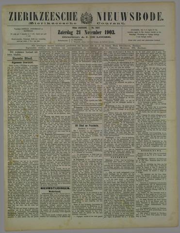 Zierikzeesche Nieuwsbode 1903-11-21