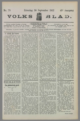 Volksblad 1922-09-30