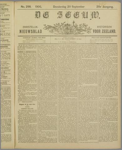 De Zeeuw. Christelijk-historisch nieuwsblad voor Zeeland 1906-09-20