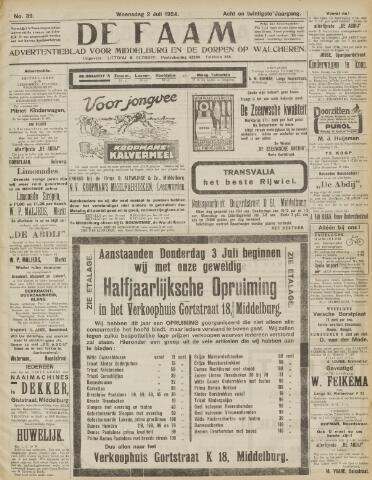 de Faam en de Faam/de Vlissinger 1924-07-02