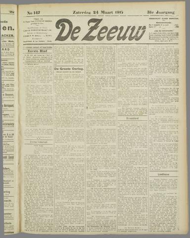 De Zeeuw. Christelijk-historisch nieuwsblad voor Zeeland 1917-03-24