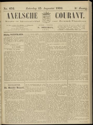 Axelsche Courant 1892-08-13