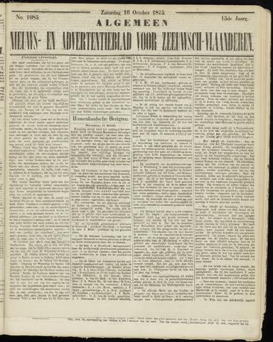Ter Neuzensche Courant. Algemeen Nieuws- en Advertentieblad voor Zeeuwsch-Vlaanderen / Neuzensche Courant ... (idem) / (Algemeen) nieuws en advertentieblad voor Zeeuwsch-Vlaanderen 1875-10-16