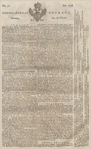 Middelburgsche Courant 1758-10-28
