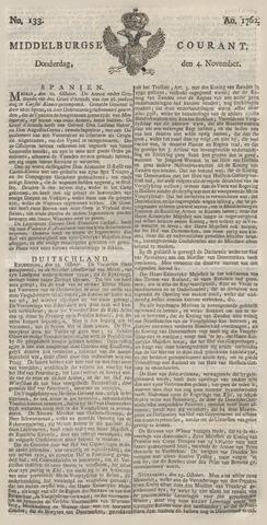 Middelburgsche Courant 1762-11-04