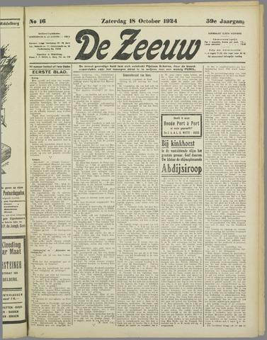 De Zeeuw. Christelijk-historisch nieuwsblad voor Zeeland 1924-10-18