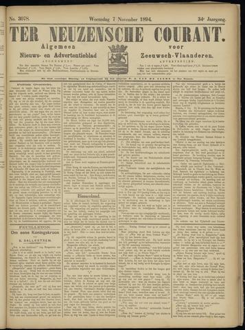 Ter Neuzensche Courant. Algemeen Nieuws- en Advertentieblad voor Zeeuwsch-Vlaanderen / Neuzensche Courant ... (idem) / (Algemeen) nieuws en advertentieblad voor Zeeuwsch-Vlaanderen 1894-11-07
