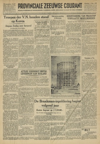 Provinciale Zeeuwse Courant 1950-09-04