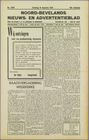 Noord-Bevelands Nieuws- en advertentieblad 1952-08-16