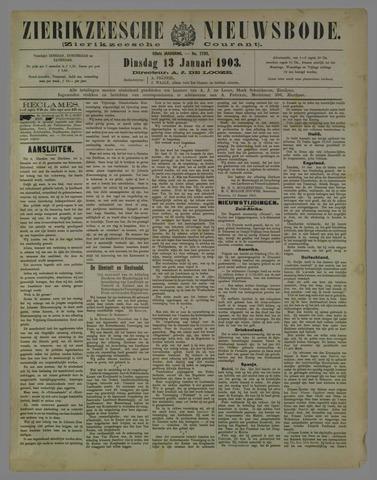 Zierikzeesche Nieuwsbode 1903-01-13