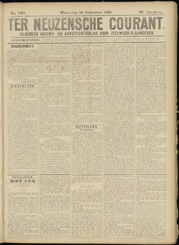 Ter Neuzensche Courant. Algemeen Nieuws- en Advertentieblad voor Zeeuwsch-Vlaanderen / Neuzensche Courant ... (idem) / (Algemeen) nieuws en advertentieblad voor Zeeuwsch-Vlaanderen 1924-09-24
