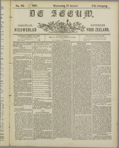 De Zeeuw. Christelijk-historisch nieuwsblad voor Zeeland 1910-01-19