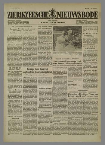 Zierikzeesche Nieuwsbode 1954-04-29