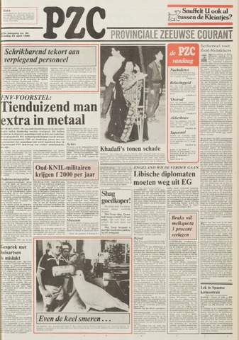 Provinciale Zeeuwse Courant 1986-04-22